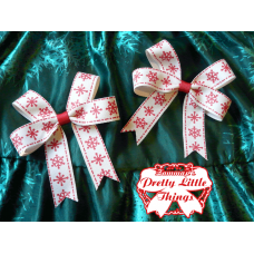 Fat Red Snowflake bow