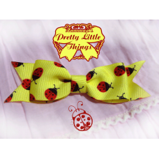 Yellow Lady Bug Bow