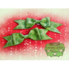 Green Polka Dot Bow