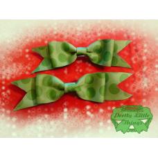 Green Polka Dot Bow Short tail