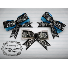 Glitter Music Note Bow