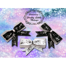 Glitter Dancing Skeleton bow