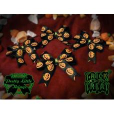 Fat Black Pumpkin Bow