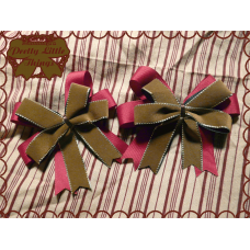 Maroon Chocolate Velvet Bow