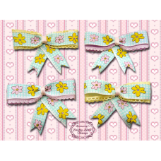 Picot cartoon flower bow