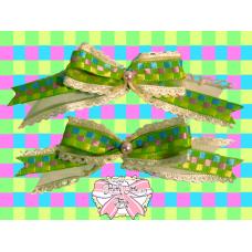 Digital green bow