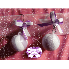 Purple Bon Bon Earrings