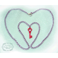 Pink Key Necklace