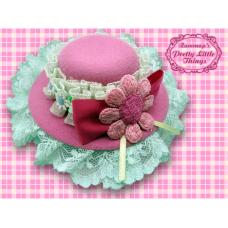 Flower Magenta Hat