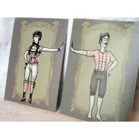 Victorian underwear 2 pack Cards